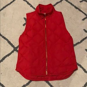 J crew puffy vest- never worn